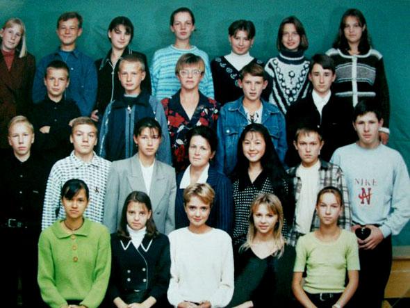 Школа 1 города Коммунара.Выпускники 2000.